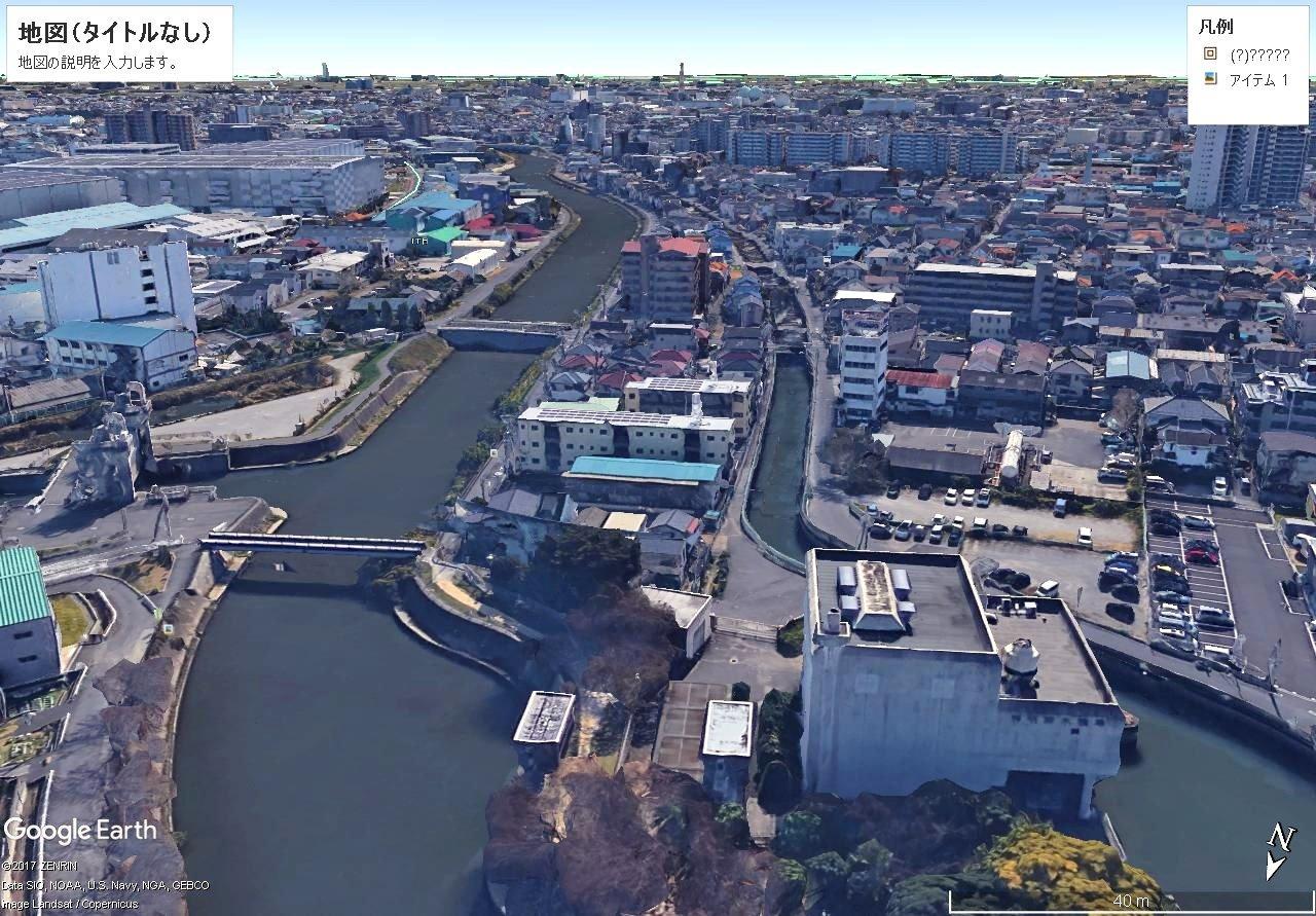 10月9日 草加市水防施設を空撮致しました